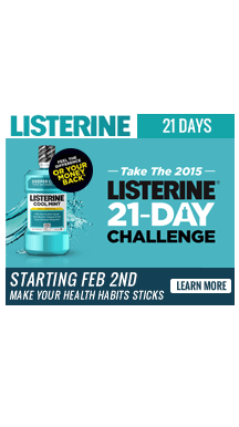 Listerine – Full Page Takeover